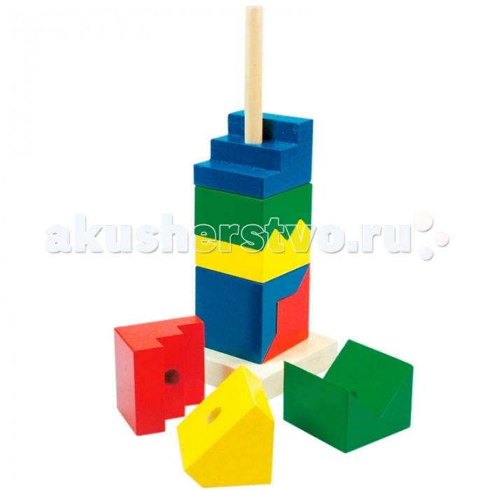 Деревянная игрушка Mertens Пирамида Цветная башня