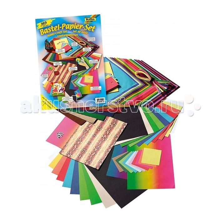 Folia Набор для детского творчества Круглый годНабор для детского творчества Круглый годМатериал, находящийся в комплекте, позволяет ребенку активно заниматься творчеством в течение всего года.   Включает 323 предмета: 13 листов цветной бумаги, ассорти (размер 250х350 мм), 10 цветных листов фотокартона, ассорти (размер 250х350 мм), 1 лист фотокартона цвета радуги (размер 250х350 мм), 1 лист картона с мотивом змеи (размер 250х350 мм), 10 цветных листов прозрачной бумаги, ассорти (размер 250х350 мм), 11 листов двухстороннего волнистого картона, ассорти (размер 250х350 мм), 2 листа цветной бумаги цвета радуги (размер 250х350 мм), 100 листов для изготовления оригами, сортированные по цветам (размер 100х100 мм), 20 штук качающихся декоративных глазок, инструкция.  Folia - немецкий производитель товаров для творчества: бумаги для популярных творческих техник - скрапбукинга, квиллинга, оригами, декорирования, а также широкого ассортимента наборов для творчества.<br>