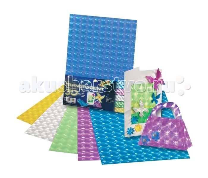 Канцелярия Folia Бумага с эффектом 3D 5 листов наборы для творчества folia набор для детского творчества чемоданчик весна