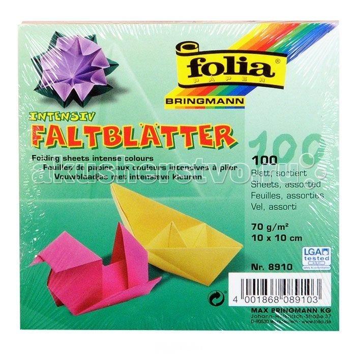 Канцелярия Folia Бумага для оригами 100 листов folia набор для детского творчества креатив