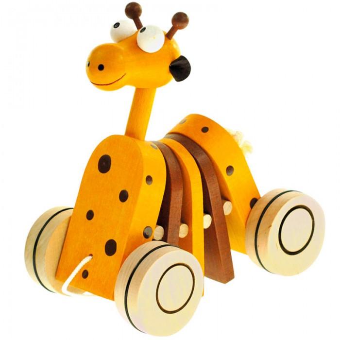 Каталка-игрушка Mertens Жираф 90987Жираф 90987Mertens Каталка Жираф.  Каждый ребенок мечтает об увлекательных приключениях в дальних странах. С этим набором зверей вы вручите малышу возможность встретиться с животными жаркой саванны у себя дома! Дружелюбный и яркий дизайн и качественные материалы сделают знакомство с животным миром веселой и безопасной игрой.   Игрушки легко помещаются в детскую руку и хорошо катаются по любой поверхности.<br>