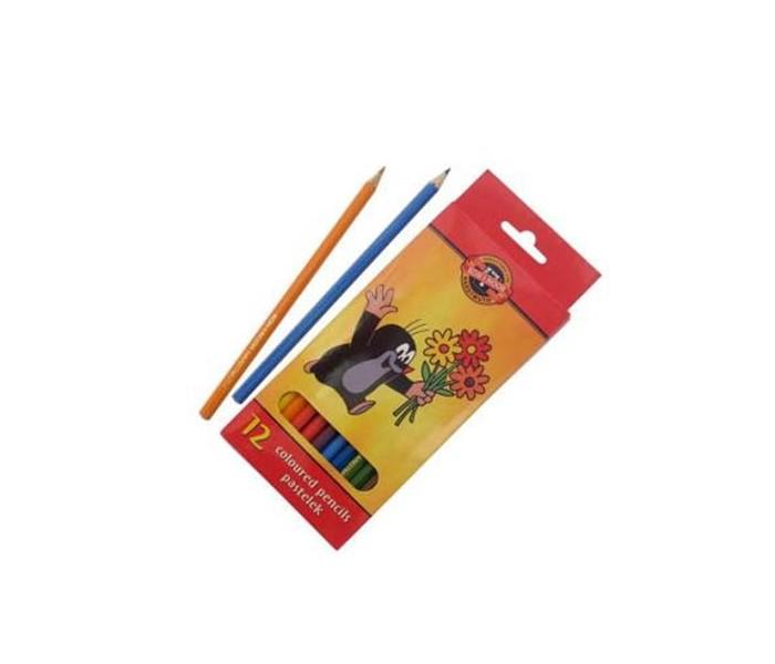 Карандаши, восковые мелки, пастель Koh-i-Noor Набор цветных карандашей Крот 12 цветов всё для лепки koh i noor пластилин archimedes 10 цветов