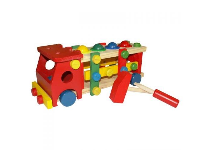 Машины QiQu Wooden Toy Factory Конструктор Машина с шариками деревянные игрушки qiqu wooden toy factory поезд