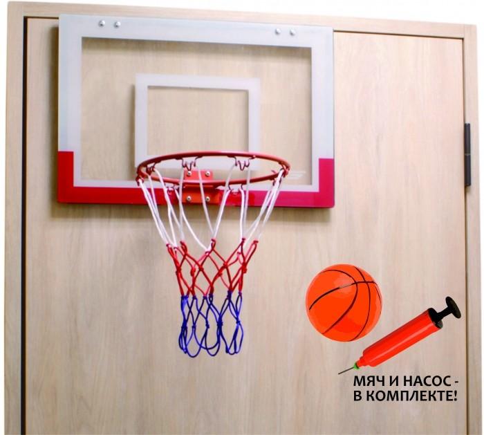 Moove&amp;Fun Баскетбольный щит мини с мячом и насосомБаскетбольный щит мини с мячом и насосомБаскетбольный щит мини с мячом и насосом  Баскетбольный набор, в комплект поставки входит: Щит баскетбольный - 1 Корзина баскетбольная - 1 Мяч - 1 Насос - 1  Хорошее настроение в неограниченных количествах  Размер баскетбольного щита - 450 x 300 мм Диаметр баскетбольного кольца - 225 мм<br>