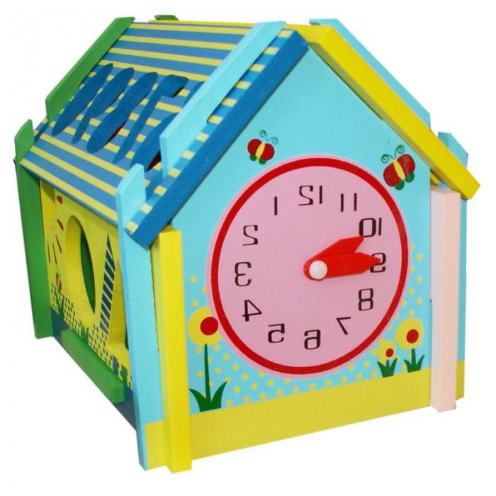 Деревянные игрушки QiQu Wooden Toy Factory Логическая игра Домик фигур пазлы qiqu wooden toy factory рамка вкладыш машинки