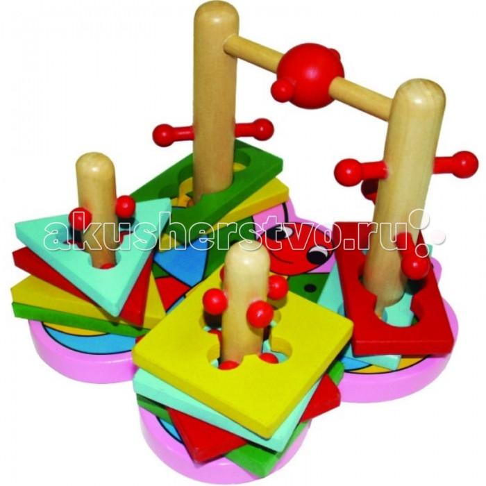Деревянные игрушки QiQu Wooden Toy Factory Логическая игра Бабочка деревянные игрушки qiqu wooden toy factory поезд