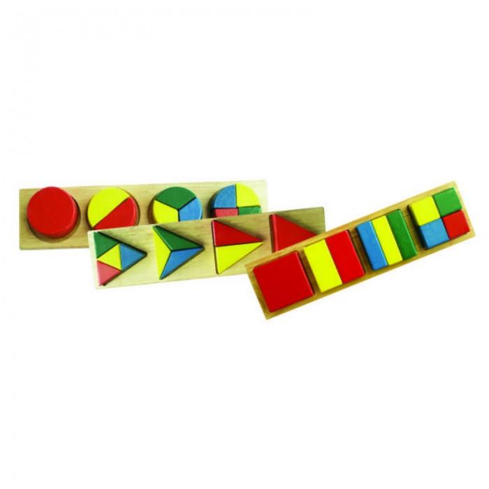 Деревянные игрушки QiQu Wooden Toy Factory Геометрия для малышей В коробке три отдельные части со вкладышами деревянные игрушки qiqu wooden toy factory поезд
