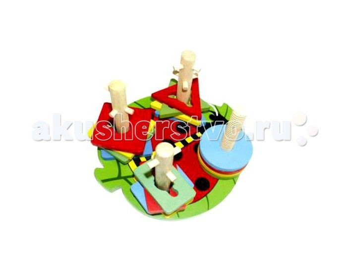 Деревянные игрушки QiQu Wooden Toy Factory Логическая игра Формы на палочках abacus sorob baby puzzle wooden toy small abacus handcrafted educational toy children s wooden early learning kids math toy mz64