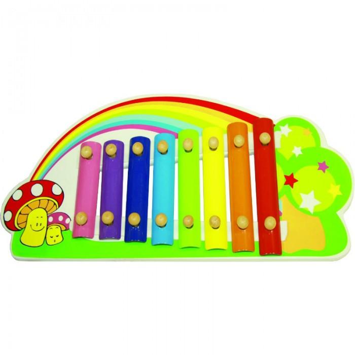 Музыкальные игрушки QiQu Wooden Toy Factory Ксилофон Радуга пазлы qiqu wooden toy factory рамка вкладыш машинки