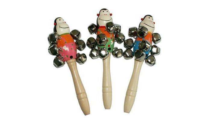 Музыкальные игрушки QiQu Wooden Toy Factory Бубенчики Фигуры бубенчики декоративные купить в москве