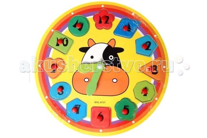 Пазлы QiQu Wooden Toy Factory Часы-пазл пазлы qiqu wooden toy factory рамка вкладыш машинки