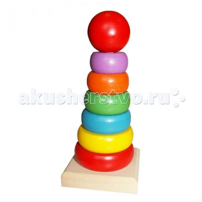 Деревянные игрушки QiQu Wooden Toy Factory Пирамидка деревянные игрушки qiqu wooden toy factory поезд
