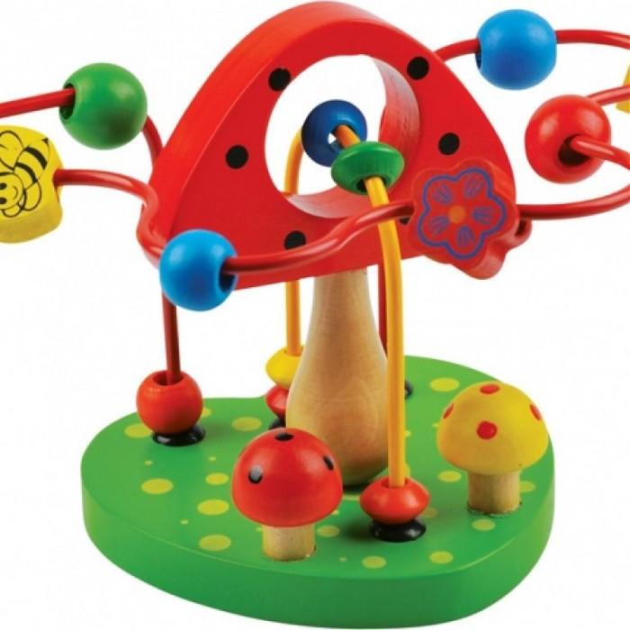Деревянные игрушки QiQu Wooden Toy Factory Лабиринт Грибочек деревянные игрушки qiqu wooden toy factory поезд
