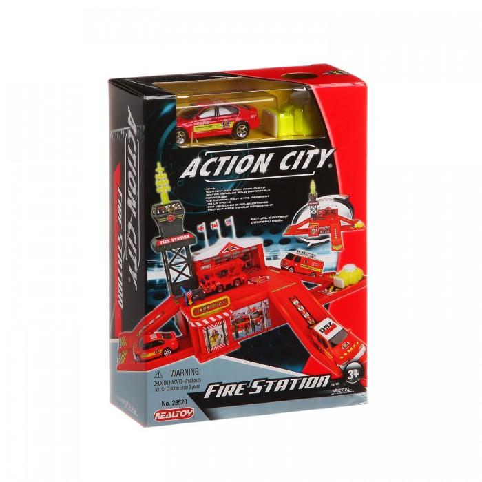 RealToy Игровой набор Пожарная станция 1 машина 28520
