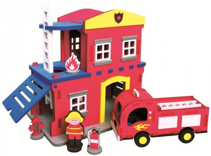 Конструкторы Bebox Пожарная станция 124 детали конструктор конструктор забияка в мире электроники 1537670
