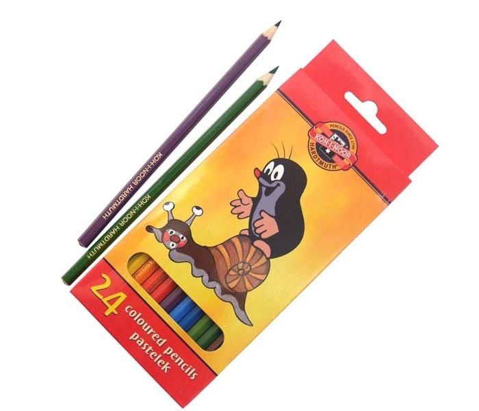 Карандаши, восковые мелки, пастель Koh-i-Noor Набор цветных карандашей Крот 24 цвета карандаши koh i noor набор карандашей 70 лет великой победы