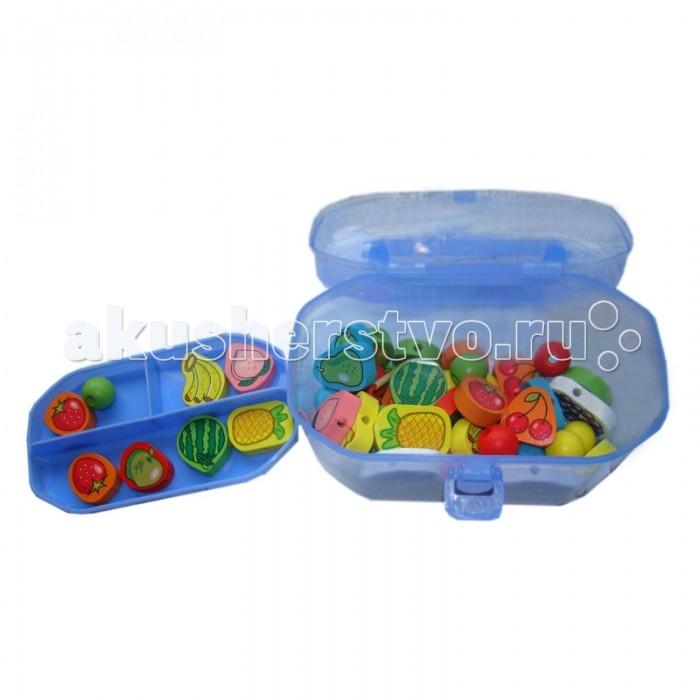 Деревянные игрушки QiQu Wooden Toy Factory Шнуровка-бусы Ягодки деревянные игрушки qiqu wooden toy factory поезд
