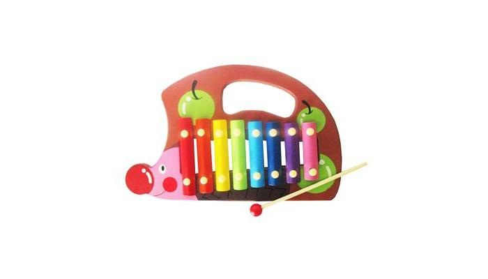 Музыкальные игрушки QiQu Wooden Toy Factory Металлофон Ежик деревянные игрушки qiqu wooden toy factory поезд