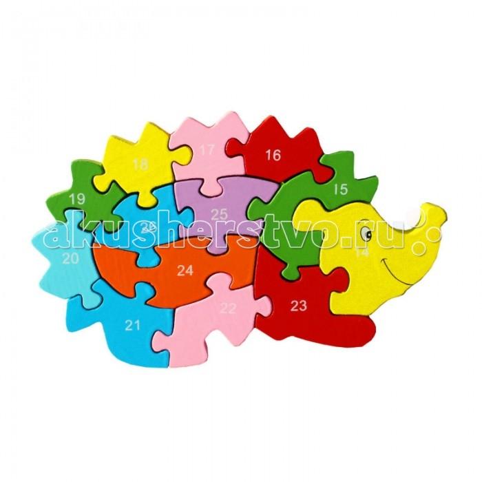 Пазлы QiQu Wooden Toy Factory Пазл Ёжик деревянные игрушки qiqu wooden toy factory поезд
