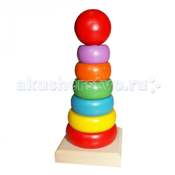Деревянные игрушки QiQu Wooden Toy Factory Пирамидка Радуга деревянные игрушки qiqu wooden toy factory поезд