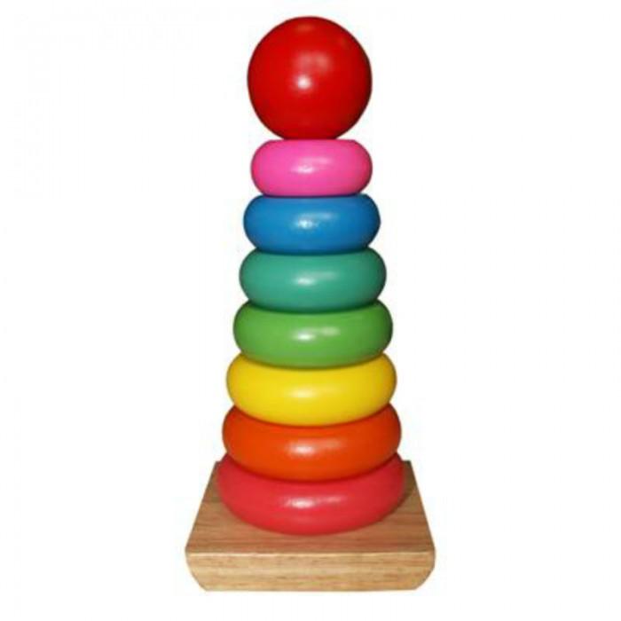 Деревянные игрушки QiQu Wooden Toy Factory Пирамидка Яркие краски пазлы qiqu wooden toy factory рамка вкладыш машинки