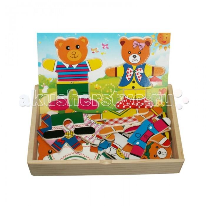 Пазлы QiQu Wooden Toy Factory Пазл Два медведя деревянные игрушки qiqu wooden toy factory поезд