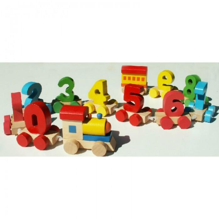 Раннее развитие QiQu Wooden Toy Factory Паровозик Цифры деревянные игрушки qiqu wooden toy factory поезд