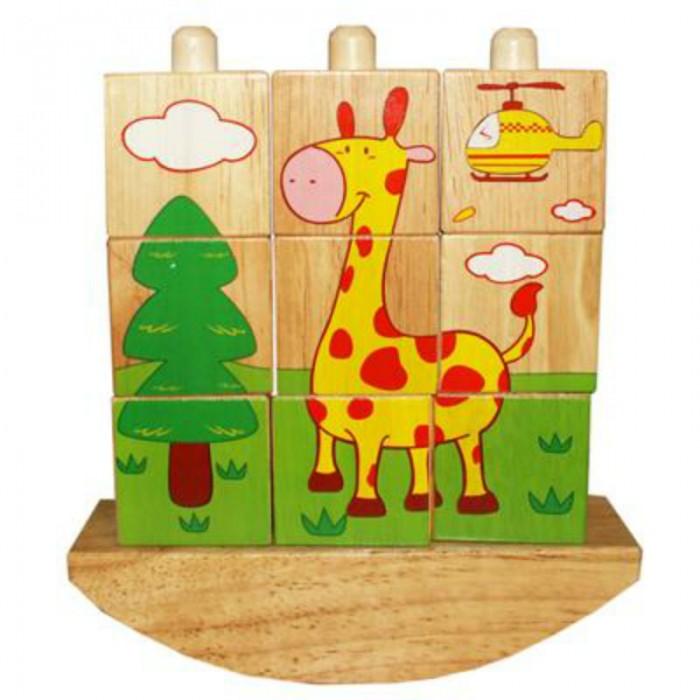 кубики Деревянные игрушки QiQu Wooden Toy Factory Забавные кубики