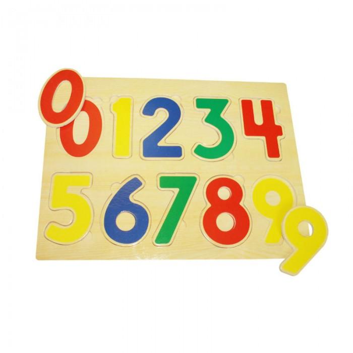 Пазлы QiQu Wooden Toy Factory Рамка-вкладыш Цифры пазлы бомик вкладыш бабочки
