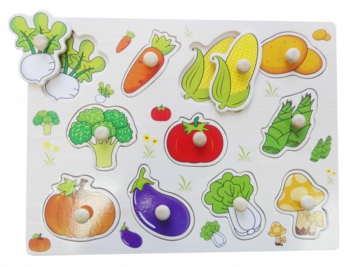 Пазлы QiQu Wooden Toy Factory Рамка-вкладыш Овощи пазлы бомик вкладыш бабочки