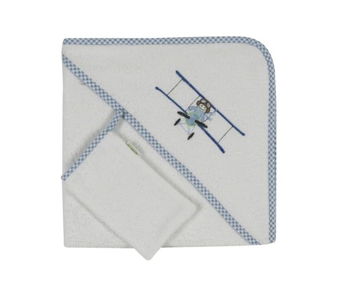 Полотенца Kidboo Комплект полотенце-уголок + варежка Little Pilot полотенца kidboo комплект полотенце уголок варежка butterfly