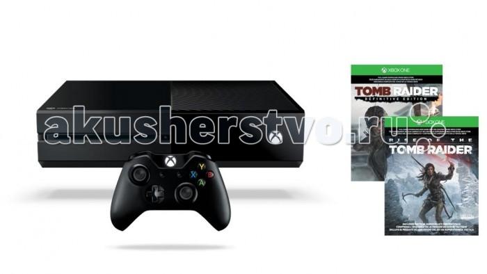 Microsoft Игровая приставка Xbox One 1 TB + код Rise of the Tomb Raider + код Tomb Raider Definitive EditionИгровая приставка Xbox One 1 TB + код Rise of the Tomb Raider + код Tomb Raider Definitive EditionОписание игровой консоли Xbox One: Добро пожаловать в новую эру игр и развлечений! Игры следующего поколения раздвигают границы реальности! Телевизор повинуется вашим командам! Слушать музыку во время игр проще простого! Xbox One позволяет в мгновение ока переключаться между телевидением, фильмами, музыкой и играми. Все сделано специально для вас. Все любимые развлечения в одном месте. Приветствуйте всемогущую консоль Xbox One!   Xbox One открывает широкие возможности игр и развлечений, преобразующие само понятие игр. Xbox One объединяет лучшие игры, самые надежные сервисы и богатые развлекательные возможности в одной системе, созданной для настоящего и будущего.   Особенности:  Лучшие игры   Xbox One создана геймерами для геймеров. Xbox One отличается идеальным балансом мощи и производительности. Эта консоль выводит игры на совершенно новый уровень. Поразительный реализм. Совершенный искусственный интеллект, адаптирующийся к вашей манере игры. А также мультиплеер нового поколения, более интеллектуальный и быстрый. Xbox One – попросту лучшая игровая консоль из тех, что мы создали!  Мультиплеер и сервис высочайшего класса   Xbox Live объединяет миллионы игроков по всему миру и предоставляет мультиплеер более десятилетия – это проверенная арена для игр. И теперь каждый может насладиться более интеллектуальным подбором игроков, сокращением времени ожидания и повышенной производительностью в Xbox Live на Xbox One. Более того, вы сможете записывать, демонстрировать и транслировать свои моменты славы!  Игры и развлечения   Лучшие игры, телепрограммы, фильмы, музыка и спорт – все в одном месте, без компромиссов! Мгновенно переключайтесь между развлечениями или откройте два приложения рядом, чтобы не упустить важный момент. А также общайтесь с друзьями и родственниками по