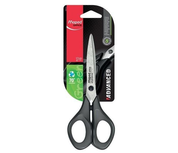 Канцелярия Maped Ножницы Advanced Green 17 см канцелярия maped ножницы essentials green 21 см
