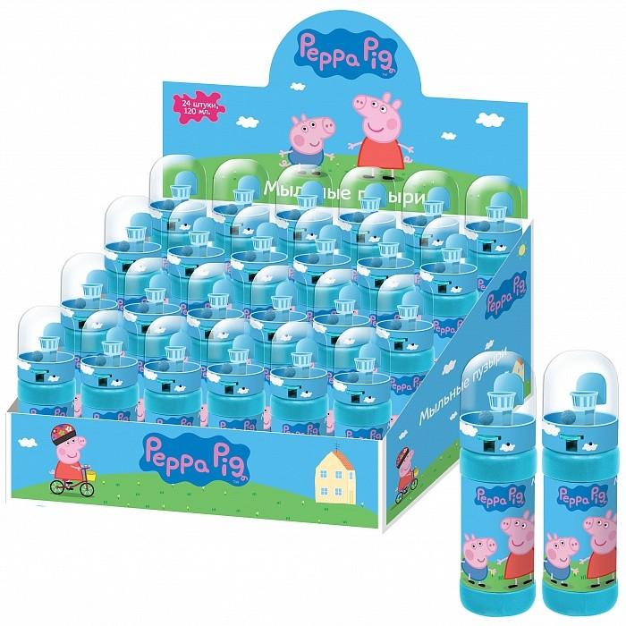 Мыльные пузыри Свинка Пеппа (Peppa Pig) Мыльные пузыри баскетбол 24 шт. 120 мл мыльные пузыри peppa pig волшебная палочка 120 мл 26939