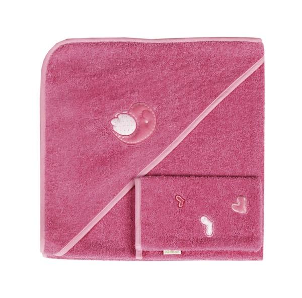 Купание малыша , Полотенца Kidboo Комплект полотенце-уголок + варежка Sweet Birds арт: 14679 -  Полотенца