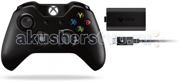 Microsoft Геймпад беспроводной 3.5 mm XboxOne Wireless Gamepad + аккумулятор + кабельГеймпад беспроводной 3.5 mm XboxOne Wireless Gamepad + аккумулятор + кабельИграйте лучше!  Играйте как никогда ранее с беспроводным геймпадом Xbox One. Новые импульсные курки обеспечивают вибрационную обратную связь, так что вы почувствуете малейшую тряску и столкновения с высочайшей точностью. Усовершенствованные мини-джойстики и совершенно новая крестовина повышают точность. А геймпад удобнее лежит в руках. Благодаря 40 новшествам это просто лучший геймпад Xbox из когда-либо созданных!  Безупречный геймпад стал еще лучше! В беспроводном геймпаде Xbox One реализовано более 40 улучшений по сравнению с удостоенным наград беспроводным геймпадом Xbox 360. Больше азарта! Погрузитесь в игру как никогда ранее благодаря импульсным куркам. Новые вибрационные электродвигатели в курках обеспечивают прецизионную обратную связь, передавая отдачу оружия, столкновения и тряску для достижения невиданного реализма! Новый высокоскоростной порт расширения обеспечивает более качественную передачу звука при использовании совместимой гарнитуры. Выше точность! Крестовина новой конструкции отлично реагирует как на касания, так и на нажатия на навигационные кнопки. Улучшенные мини-джойстики удобнее в использовании и точнее работают. Курки и триггеры ускоряют доступ к командам. Удобнее! Размер и контуры геймпада комфортны для рук любого игрока. Батареи скрыты в корпусе, благодаря чему геймпад удобнее лежит в руке.  Особенности беспроводного геймпада XboxOne Wireless Gamepad (EX6-00007) (с разъемом 3.5 мм): Основной цвет: черный Радиус действия: 9 м Особенности управления: вибромоторы в триггерах, вибромоторы на курках Элементы питания: 2хАА Время работы: 40 ч Особенности, дополнительно: разъемом для гарнитуры 3.5 мм<br>