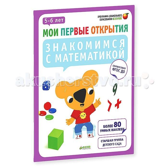 Раннее развитие Clever Мои первые открытия Знакомимся с математикой 5-6 лет росмэн развивашки знакомлюсь с математикой