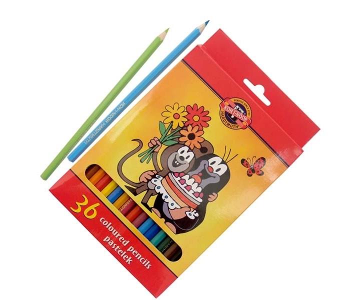 Карандаши, восковые мелки, пастель Koh-i-Noor Набор цветных карандашей Крот 36 цветов канцелярия koh i noor набор ластиков крот