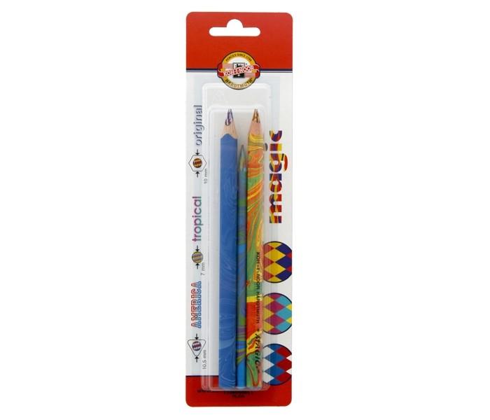 Карандаши, восковые мелки, пастель Koh-i-Noor Набор карандашей Magic с многоцветным грифелем 3 шт. карандаши восковые мелки пастель koh i noor карандаш двухцветный красно синий