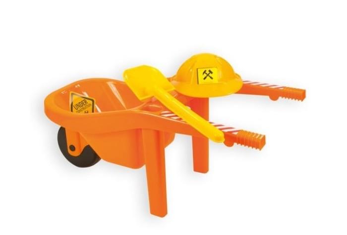 Игрушки в песочницу ZebraToys Тачка с каской и лопатой полесье набор игрушек для песочницы тачка садовод с лопатой и граблями цвет желтый