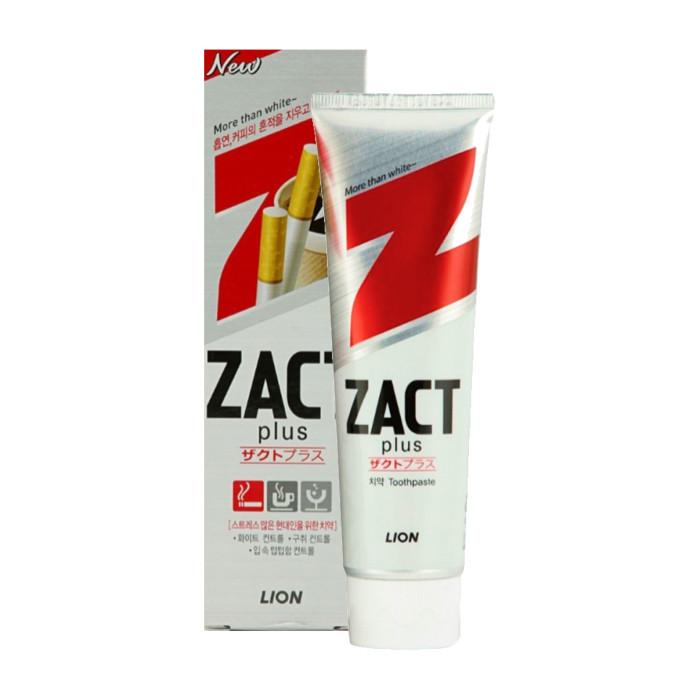 все цены на  Гигиена полости рта CJ Lion Зубная паста Zact с эффектом отбеливания кофейного и никотинового налета 150 г  онлайн