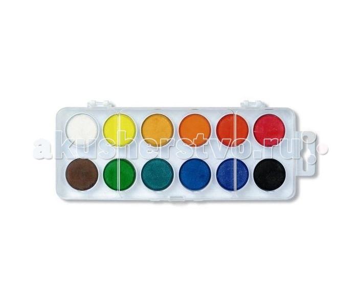 Краски Koh-i-Noor Краски акварельные в пластиковой упаковке 12 цветов всё для лепки koh i noor пластилин 70 лет великой победы 10 цветов 200 г