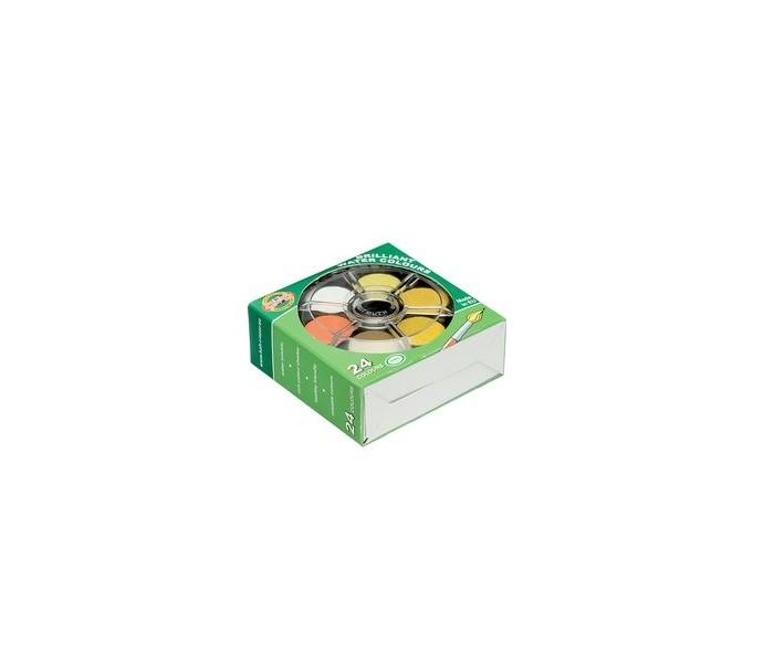 Краски Koh-i-Noor Краски акварельные с бриллиантовым оттенком 24 цвета