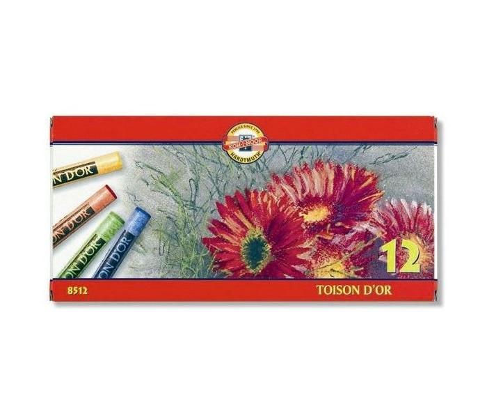 Карандаши, восковые мелки, пастель Koh-i-Noor Мелки акварельные Toison Dor 12 цветов карандаши восковые мелки пастель koh i noor карандаш двухцветный красно синий