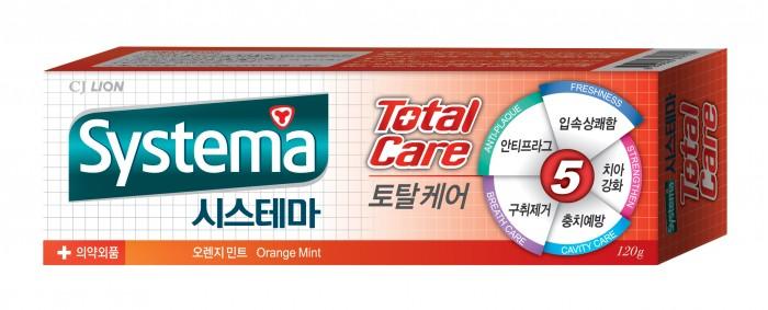 Гигиена полости рта CJ Lion Зубная паста Systema для полной защиты с ароматом апельсина и мяты 120 г cj lion lion pair 120