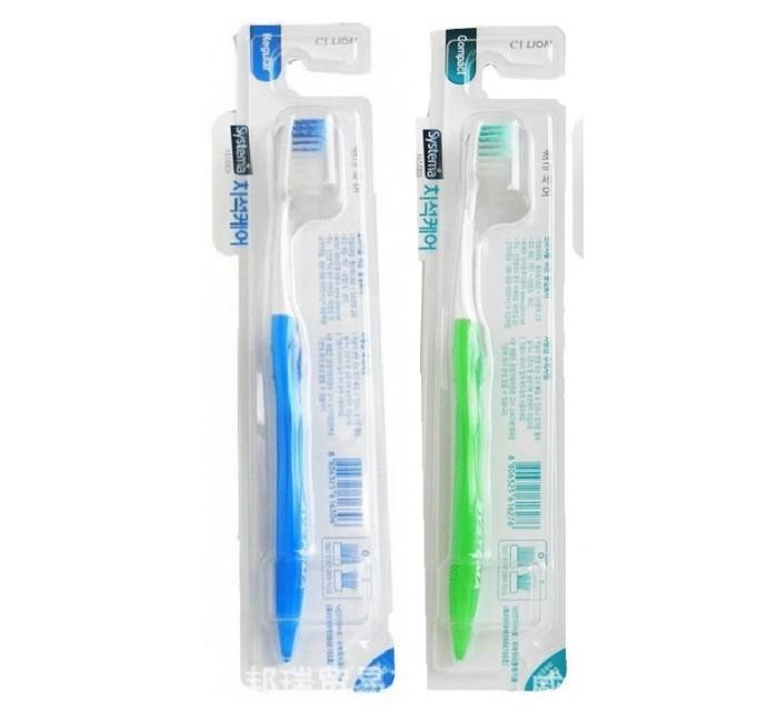 Гигиена полости рта CJ Lion Зубная щетка Systema Tartar компактная гигиена полости рта r o c s модельная зубная щетка средняя