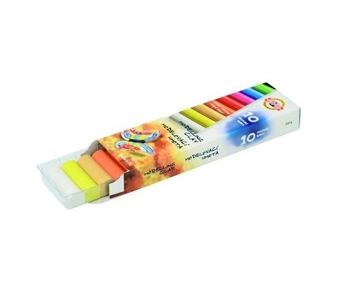 Всё для лепки Koh-i-Noor Пластилин 10 цветов 200 г пластилин детский классика 16 цветов 20с 1329 08