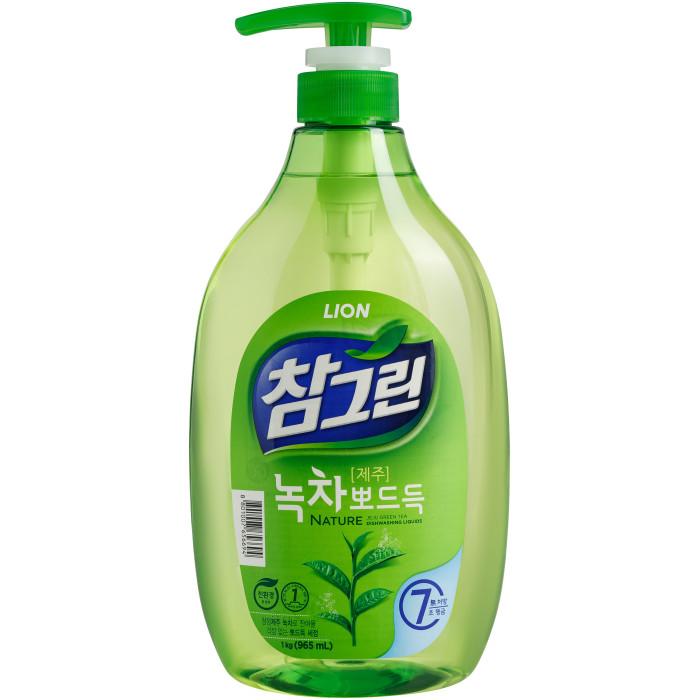 Бытовая химия CJ Lion Средство для мытья посуды Chamgreen С ароматом зеленого чая флакон-дозатор 960 мл средство для мытья посуды fruit acidic fresh с ароматом зеленого яблока 600 мл