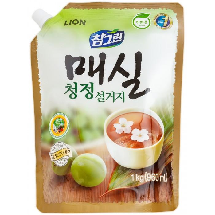 Фото Бытовая химия CJ Lion Средство для мытья посуды Chamgreen Японский абрикос мягкая упаковка 960 мл
