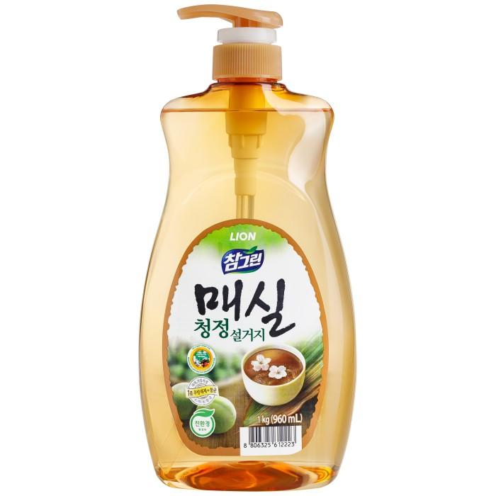 Бытовая химия CJ Lion Средство для мытья посуды Chamgreen Японский абрикос флакон-дозатор 960 мл